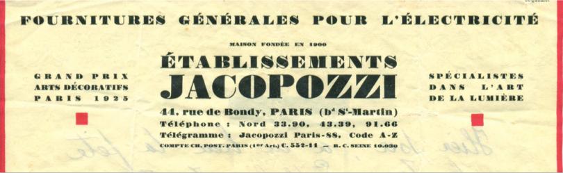 Brochure commerciale des Etablissements Jacopozzi