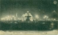 Carte postale de l'illumination de la place de la Concorde par Fernando Jacopozzi